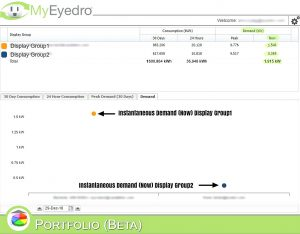 MyEyedro Electricity Usage Metering Instantaneous Peak Demand Data