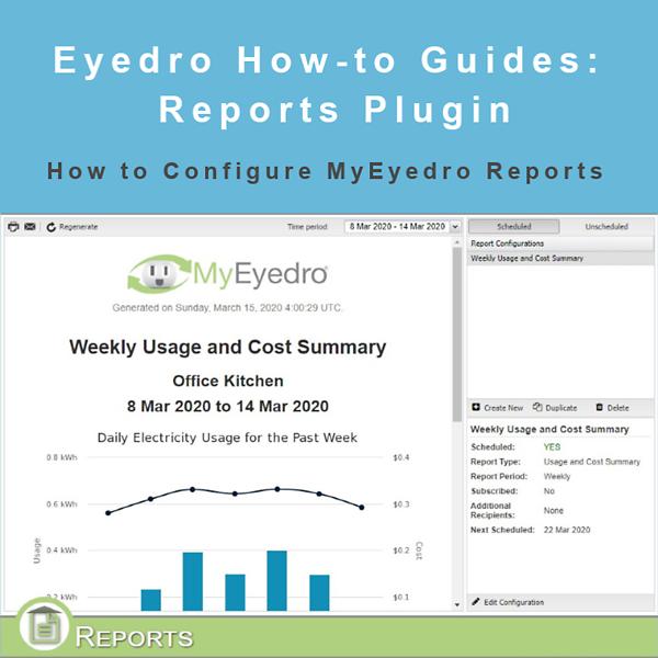 How to Configure MyEyedro Reports