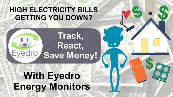 Shocked by Your Energy Bill? Reduce it With an Eyedro Home Energy Monitor